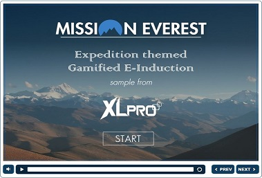 Mission Everest Gamified elearning home screen