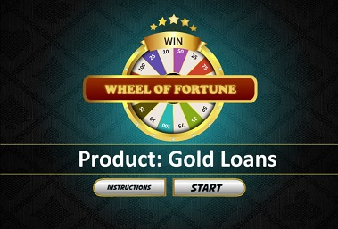 Wheel of fortune themed elearing gamification module