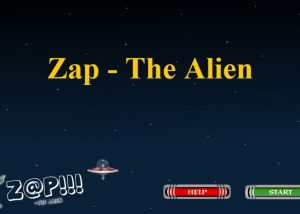 Zap the alien elearning game with start button