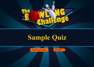 Elearning Quiz base on bowling game