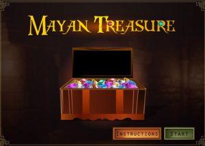 Elearning treasure hunt game screen with precious stones