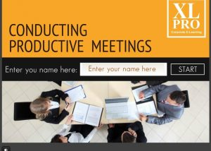 Conducting productive meeting elearning module home