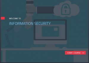 Information security elearning module sample home screen