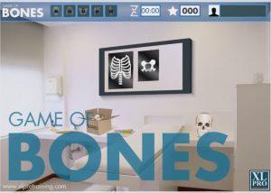 Game of bones gamified elearning module sample for Pharma sector home screen