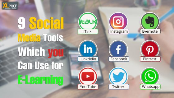 An image depicting logo of different social media tools