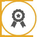 Vector icon of a cloth badge