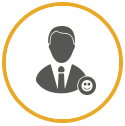 Vector icon of man in suit