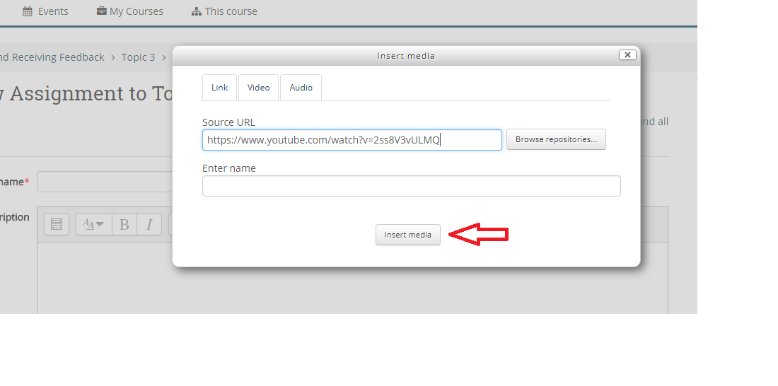 Steps to Display Videos within Moodle - E-Learning