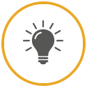 Vector icon of glowing bulb