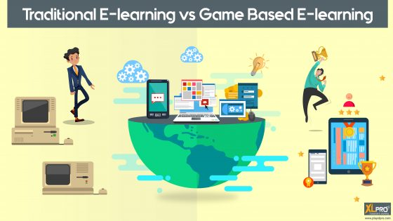 traditional e-learning as against the game-based e-learning