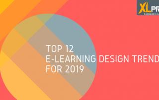 A bright vibrant design showing e-learning design trends