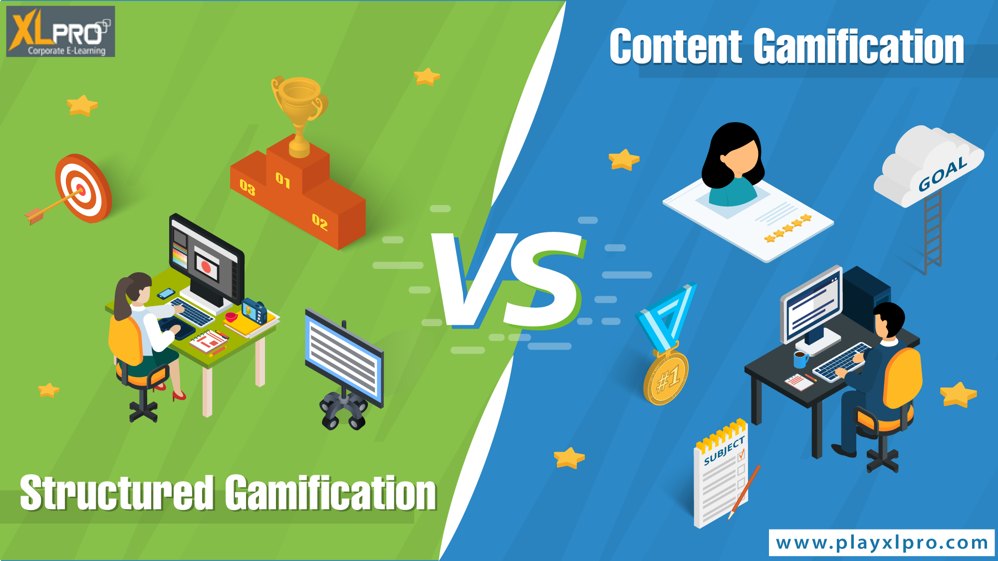 content gamification vs structured gamification
